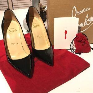 Christian Louboutin black Décolleté patent heels